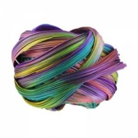 Shibori Silk Ribbon - color Purple Passion Borealis - lengte 20cm (FCR-427)