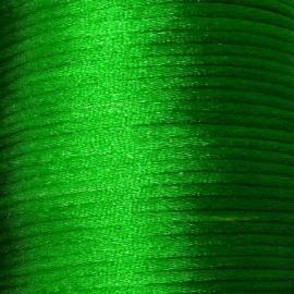 satijnkoord 2mm 5 meter kleur felgroen