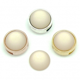 polariscabochon 11,8 mm - kleur Light Peach (CAB-12-002)