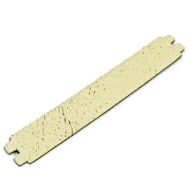 platte leerband 29mm breed kleur Goby Wit lengte 17cm (OL-36)