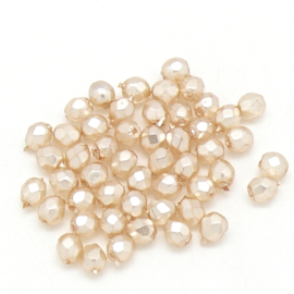 FPB 4mm col. 70411CR - 50 kralen kleur Crystal Pearl Peach
