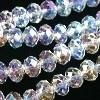 glaskraal crystal AB disc facet 14x18mm
