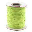 stoffen elastiek 1mm dik lengte 2 meter - kleur groen (AB84858)