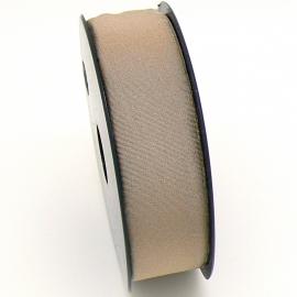elastisch IBIZA lint 30mm breed - lenge 1 meter - kleur beige (BIL30-03)