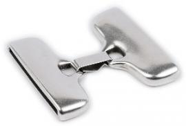 DQ metaal clipsluiting voor 40mm breed leer (gat2,5x40mm) (B07-005-AS)