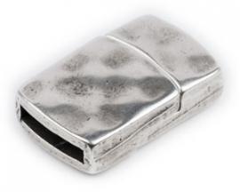 DQ metaal magneetsluiting hamerslag voor 13mm plat leer gat 2.5x13mm (B07-015-AS)