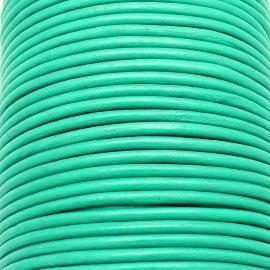 DQ leer 4mm rond  (1 meter) kleur Mint Green (MCR39)