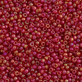 MR11-0254 Miyuki Rocailles 11/0 - 10 gram - kleur transparant Red AB