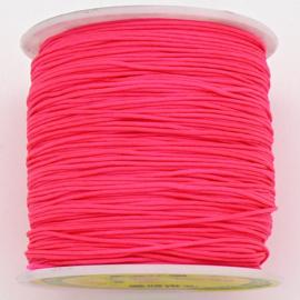 mousetailkoord 0,7mm (dun satijnkoord) - kleur neon pink - 5 meter (BMT-18)