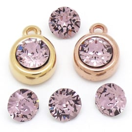 swarovski puntsteen SS39 8,5mm antique pink