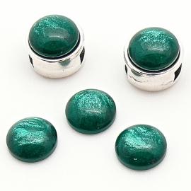 polariscabochon pearl 8mm - kleur dark green pearl (POL-004-014)