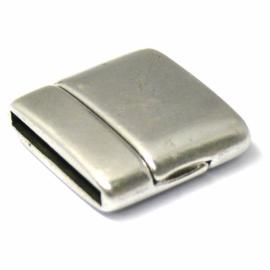 DQ metaal magneetsluiting voor 20mm plat leer, gat 2x20mm (B07-003-AS)