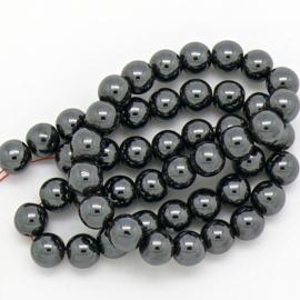 edelsteen kraal 8mm - Hematite - 1 stuks (BJ8-003)