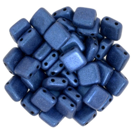 Czechmates Tile Bead maat 6mm - kleur Metalic Suede Blue - 25 stuks
