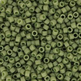 DB0391 Miyuki Delica 11/0 - 5 gram - kleur  opaque matte lustered olive