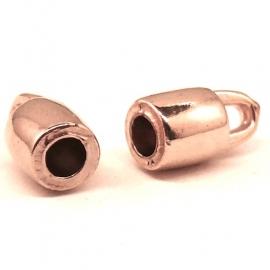 DQ metaal ROSE GOUD eindkap gat 3mm (B06-022-RG)