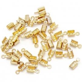 DQ metaal veterklem voor koord 1,5/2mm maat 3x8mm (B05-049-SG) - 5 stuks