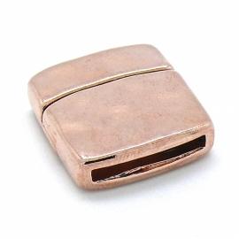 DQ metaal ROSE GOLD magneetsluiting hamerslag voor 20mm plat leer (B07-016-RG)