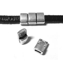 DQ metaal magneetsluiting voor 5mm plat leer (B07-043-AS)