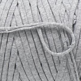 Gipsy koord - licht elastisch textielgaren - ongeveer 20mm breed - lengte 1m - kleur cloudy grey (GIPSY B-24)