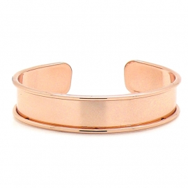 DQ metaal cuff armband voor 10mm leer maat armband 14.4x66mm (B08-016-RG)