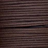 waxkoord 0,5 mm 10 meter kleur donkerbruin