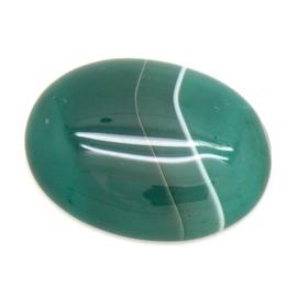 cabochon natuursteen ovaal - natural green agate - 7,5x30x40mm (296) - 1 stuks
