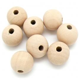 houten kraal 20 mm kleur beige (BHK-20-02) - 10 stuks