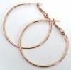 DQ metaal oorbel ROSE GOLD creool 30mm (AB86122) per paar