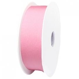 elastisch IBIZA lint 30mm breed - lenge 1 meter - kleur licht roze (BIL30-08)