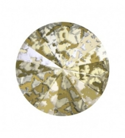 swarovski puntsteen SS29 6mm gold patina