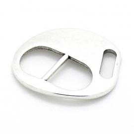 DQ metaal bucklesluiting voor 10mm breed leer maat 26x39mm 3x10mm (B07-059-AS)