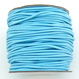 stoffen elastiek 2mm dik - kleur light blue - 2 meter