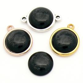 cabochon polaris pearl rond 20mm kleur Black (CAB-20-013)