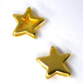 DQ metaal gold schuifkraalster voor 10mm breed leer (B04-010-SG)