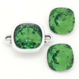 swarovski vierkante steen 4470 - 10mm - fern green (BSSQ-008)