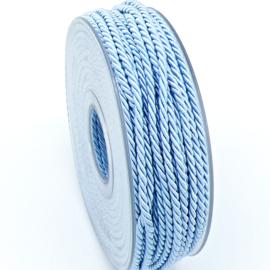 gedraaid koord 3mm dik - kleur lichtblauw - (KL304616) - lengte 2 meter
