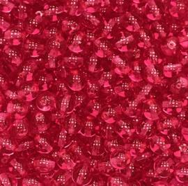 PB6-03000-67282 Tsjechisch ronde glaskraal 6mm Crystal Rose - 25 stuks