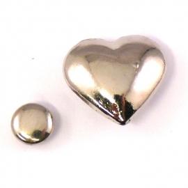 stud hart 15x17mm (B09-007-AS) - 5 stuks