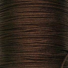 mousetailkoord 0,7mm (dun satijnkoord) - kleur donkerbruin -  5 meter (BMT-13)