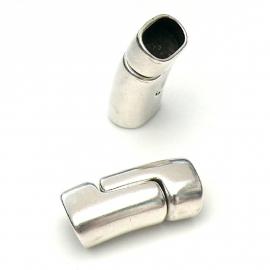 DQ metaal magneetsluiting 13x27mm gat 7x10mm REGALIZ (B07-081-AS)