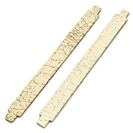 leren band 14mm breed kleur Goby Creme - lengte 15cm (OL-24)