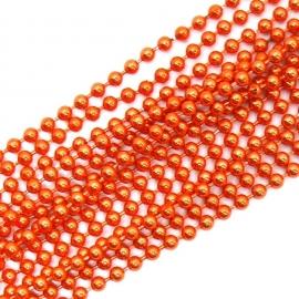 ballchain 2mm - lengte 1m (code BJ918) kleur oranje