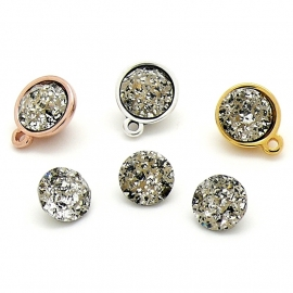 swarovski puntsteen SS39 8,5mm gold patina