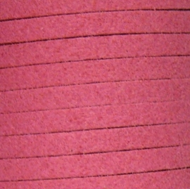 imitatie suede veter 3mm breed 90cm lang fuchsia no. 09