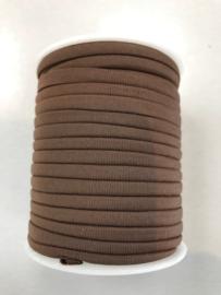 Habotai elastisch zijdekoord - kleur Brown - 3x5mm - lengte 2 meter (no 07)