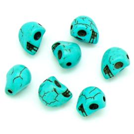 keramiek kraal skull / doodshoofd maat 8x10mm (KERT-08-03)