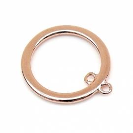 DQ metaal ROSE GOUD ring met binnenoog binnenmaat 21mm, buitenmaat 28mm (B05-017-RG)