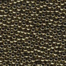 MR6-0457 Miyuki Rocailles 6/0 - 10 gram - kleur Metalic Dark Bronze