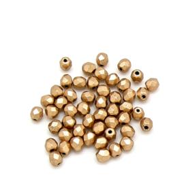 FPB 3mm kleur Matte Metalic Flax - 03000/01710 aztec gold - 75 stuks